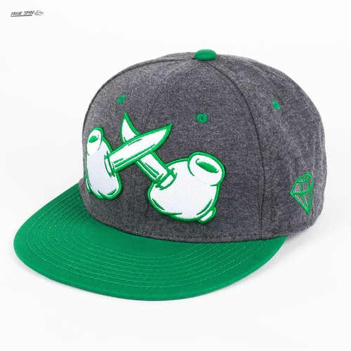 Бейсболка TRUESPIN Knives/crossed (Dark-Grey-Green, O/S) шапка truespin basic dark green