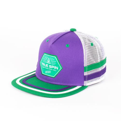 Бейсболка TRUESPIN Sport Trucker (Purple-White, O/S) цена 2017