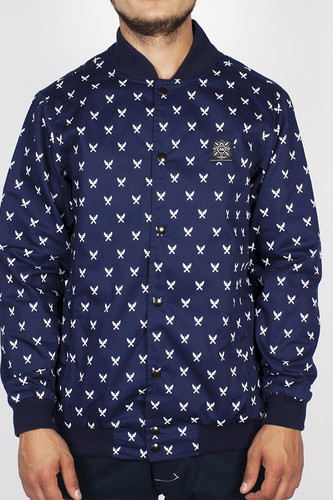 Куртка TURBOKOLOR Light Varsity Jacket SS14 (Navy-Torch-Print, S) бейсболка turbokolor five panel caps ss14 ocean blue paisley print o s
