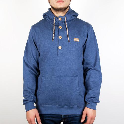 Толстовка IRIEDAILY Hipster 2 Hoody (Navy Melange-351, L) толстовка iriedaily irie college hooded maroon melange 296 l