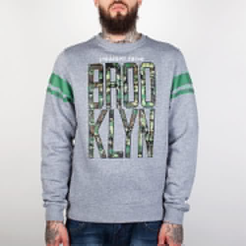 цена Толстовка CAYLER & SONS Brooklyn Crewneck (Grey Heather/Digi Camo/Green, XL) в интернет-магазинах