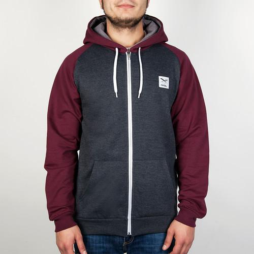Толстовка IRIEDAILY De College Zip Hood (Anthra Red-722, S)