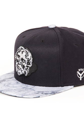 Бейсболка BACKYARD CARTEL Goliath FW14 (Black/Marble, O/S) бейсболка backyard cartel icon 5 panel camo o s