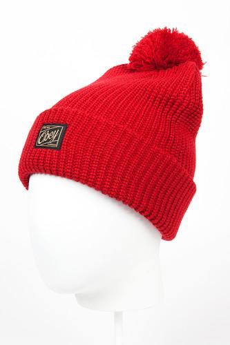 Шапка OBEY Alvarado Pom Pom Beanie (Red) шапка nixon smoky beanie red paper