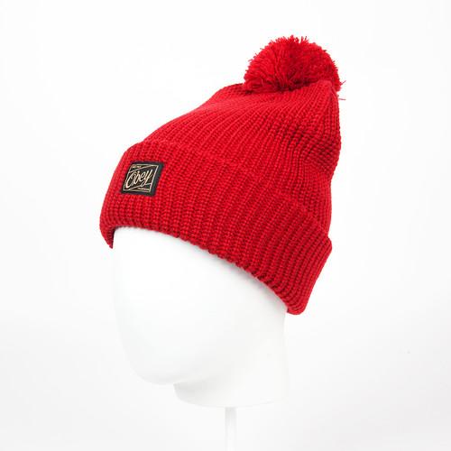 Шапка OBEY Alvarado Pom Pom Beanie (Red) шапка obey alvarado pom pom beanie red page 3 page 3