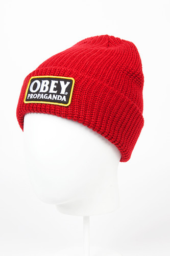 Шапка OBEY Damaged Beanie (Red)