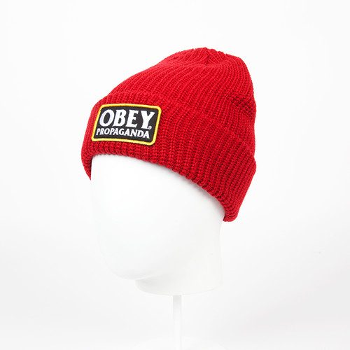 Шапка OBEY Damaged Beanie (Red) шапка obey ruger beanie obn134 heather indigo
