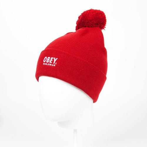 Шапка OBEY Worldwide Pom Pom (Red) шапка obey alvarado pom pom beanie red page 3 page 3