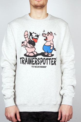 Толстовка TRAINERSPOTTER Felix And The Pigs Ass Crew (Oatmeal, L) толстовка trainerspotter felix mono crew black s