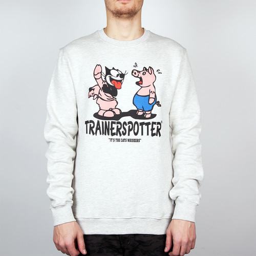 Толстовка TRAINERSPOTTER Felix And The Pigs Ass Crew (Oatmeal, L) футболка trainerspotter felix and the pigs ass t shirt grey marl a 2xl