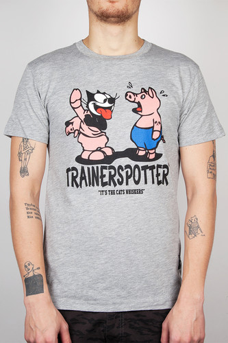Футболка TRAINERSPOTTER Felix And The Pigs Ass T-shirt (Grey Marl-A, 2XL)