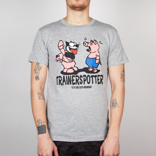 Футболка TRAINERSPOTTER Felix And The Pigs Ass T-shirt (Grey Marl-A, 2XL) футболка trainerspotter felix dynamite white l