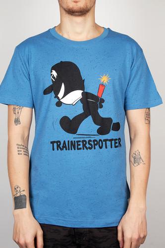 Футболка TRAINERSPOTTER Felix Dynamite T-shirt (Blue Marl-B, XS)