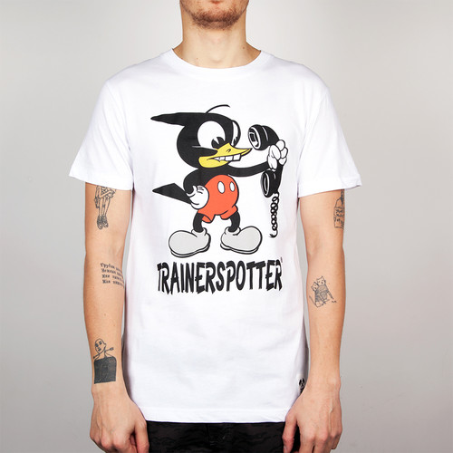 Футболка TRAINERSPOTTER Mickey Pecker T-shirt (White-A, 2XL) футболка trainerspotter felix and the pigs ass t shirt grey marl a 2xl
