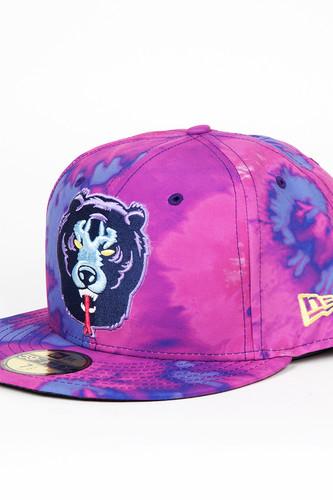 Бейсболка MISHKA Death Adder Tie Dye New Era 5950 (Purple Td, 7 1/8)