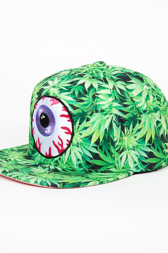 Бейсболка MISHKA Secret Garden Keep Watch Sub Snapback (Grass Green, O/S)