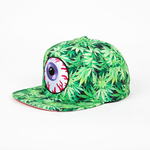 Бейсболка MISHKA Secret Garden Keep Watch Sub Snapback (Grass Green, O/S) бейсболка mishka keep watch tie dye new era snapback lime blue tie dye o s