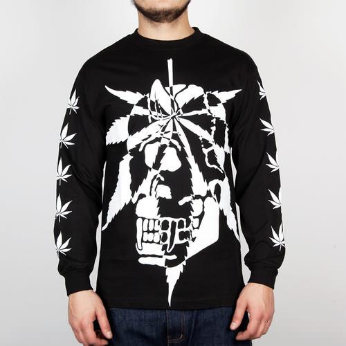 Лонгслив MISHKA Cyco Sativa Long Sleeve (Black, L) футболка mishka cyco thrasman tee black l