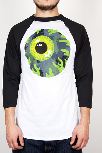 Лонгслив MISHKA Kirby Camo Raglan (White, L) толстовка mishka kirby camo keep watch pullover hoodie black m