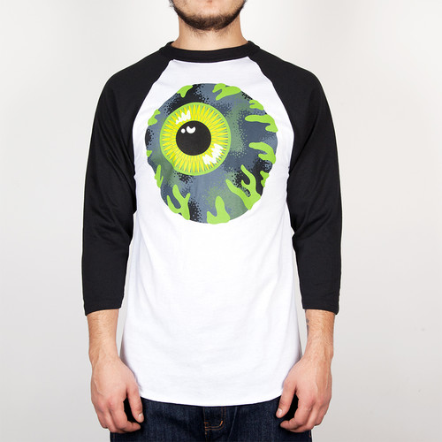 Лонгслив MISHKA Kirby Camo Raglan (White, L) футболка mishka davy jones locker white l
