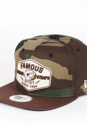 Бейсболка FAMOUS Strike New Era Snap (Woodland-Camo-Brown-Tan, O/S)
