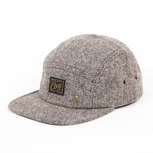 Бейсболка OBEY Ulster 5 Panel (Light Brown, O/S) бейсболка obey trail 5 panel burgundy o s