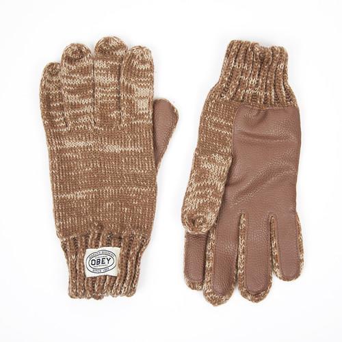 Перчатки OBEY Woodland Gloves (Heather Oatmeal, O/S)