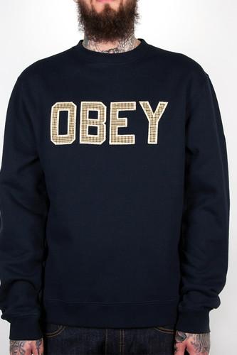 цена на Толстовка OBEY Belton Crew (Navy, S)