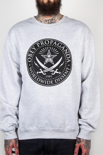 Толстовка OBEY Street Savages (Heather Grey, S) все цены