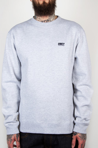 цена на Толстовка OBEY Worldwide Crew (Heather Grey, M)