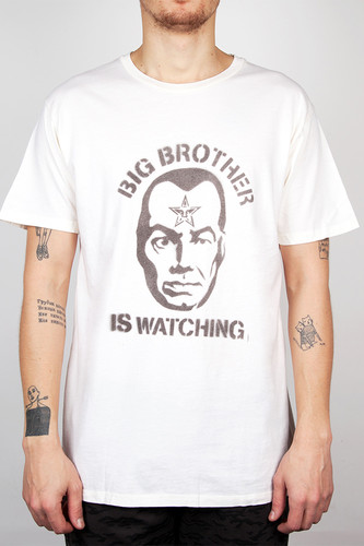 Футболка OBEY Big Brother Is Watching (Light Heather Grey/Burgundy, S)