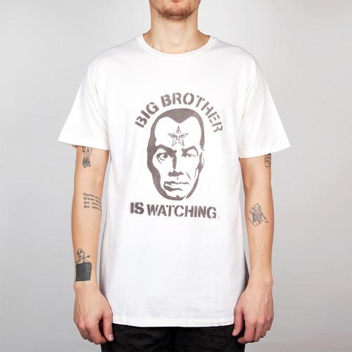 Футболка OBEY Big Brother Is Watching (Light Heather Grey/Burgundy, S)
