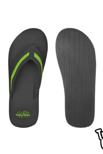 Шлепки URBAN CLASSICS Flip Flops (Black-Limegreen, 37) ветровка urban classics arrow windrunner black limegreen xl