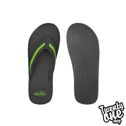 Шлепки URBAN CLASSICS Flip Flops (Black-Limegreen, 37)