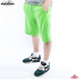 Шорты URBAN CLASSICS Light Fleece Sweatshorts Limegreen фото