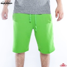 Шорты URBAN CLASSICS Light Fleece Sweatshorts Limegreen фото 2