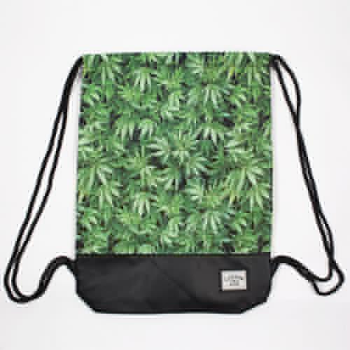 Сумка CAYLER & SONS Kush Gym Bag (Green Leaves/Black/Black) цена и фото