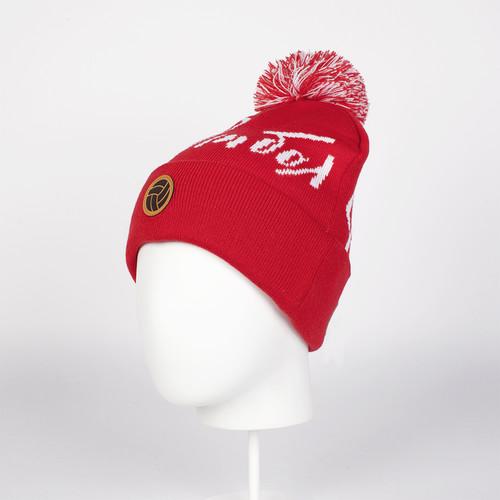 купить Шапка с помпоном ЗАПОРОЖЕЦ Футбол (Red) по цене 575 рублей