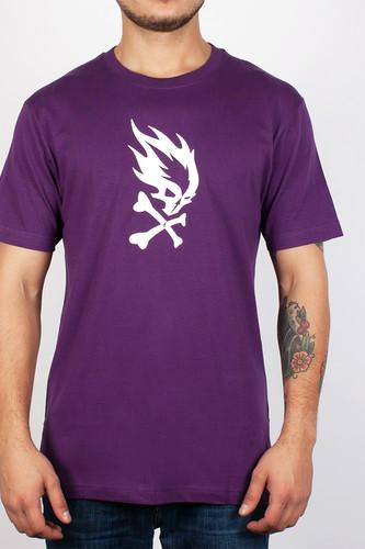 Футболка PYROMANIAC Flame Skull FW14 (Purple, S)