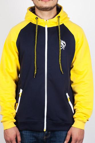 Толстовка PYROMANIAC Smooth (Navy/Yellow, XL)