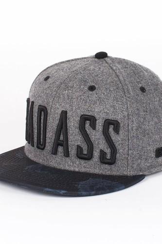 Бейсболка BEASTIN Badass Snapback Cap (Grey-Black-Roses, O/S)