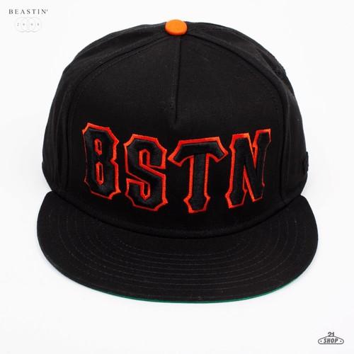 Бейсболка BEASTIN Bstn (Black-Orange, O/S) цена
