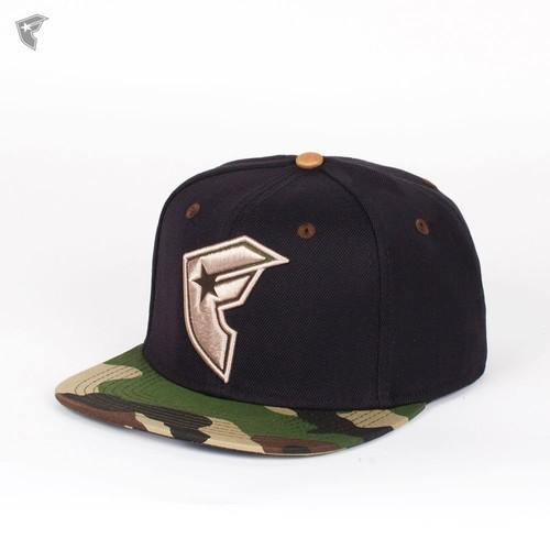 Бейсболка FAMOUS Hunting Season Snapback (Black-Camo-Tan, O/S) цена