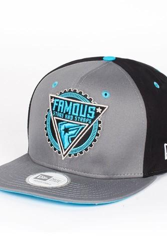 Бейсболка FAMOUS Gmt New Era Snap (Grey-Black-Lt-Blue, O/S)