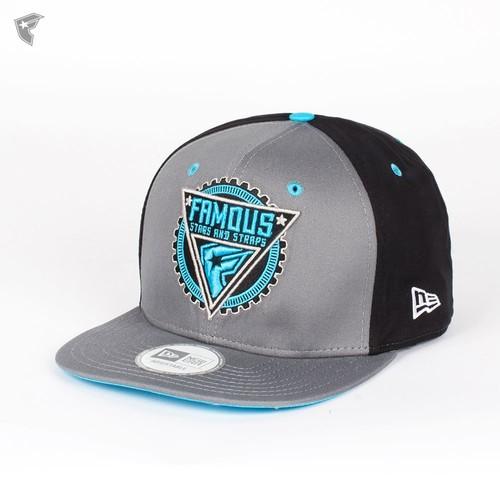 купить Бейсболка FAMOUS Gmt New Era Snap (Grey-Black-Lt-Blue, O/S) по цене 850 рублей