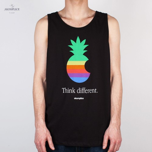 Майка AKOMPLICE Think Different Tee (Black, L) printio apple think different
