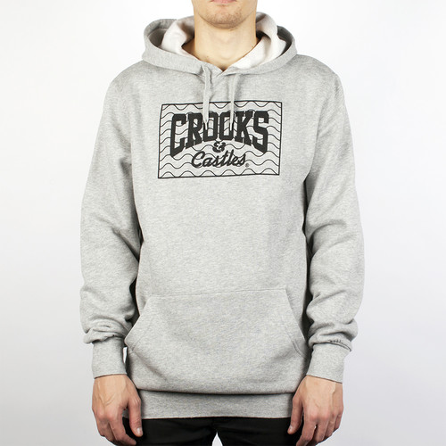 Толстовка CROOKS & CASTLES Bdu Hooded Pullover (Heather Grey, XL) цена 2017