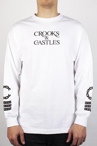 лонгслив crooks Лонгслив CROOKS & CASTLES Stickup (White, S)