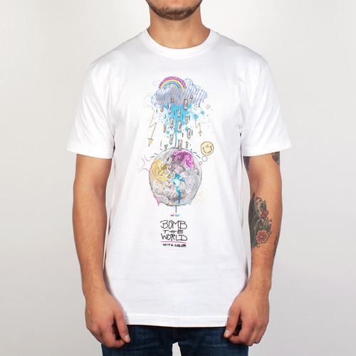 Футболка PYROMANIAC Bomb The World (White, XL) футболка pyromaniac odb white xl
