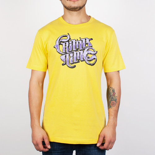 Футболка PYROMANIAC Crime Time (Yellow, XL) толстовка pyromaniac smooth navy yellow xl